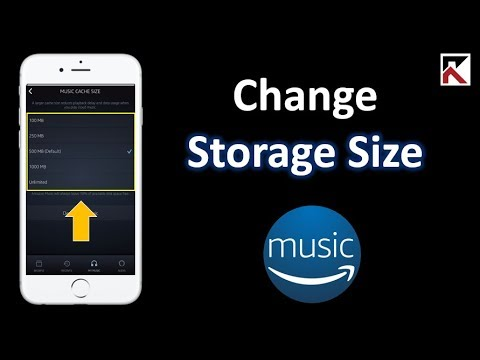 How To Change Amazon Music Storage Size