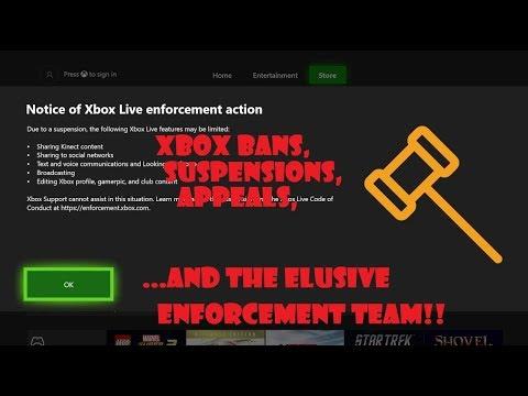 Xbox Bans, Suspensions, Appeals, and the elusive Enforcement Team.