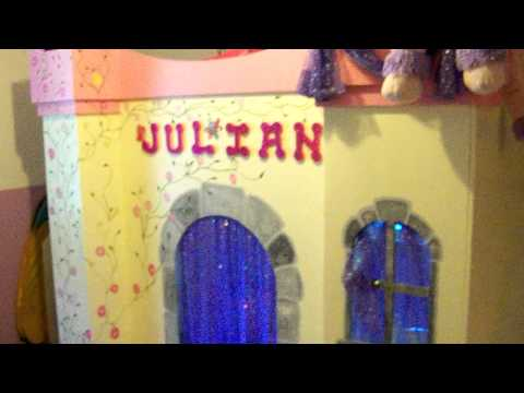 Julian's Homemade Princess Castle Bed with slide