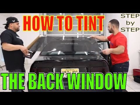 How to Tint a Back Window / Step by Step (winning window tints)