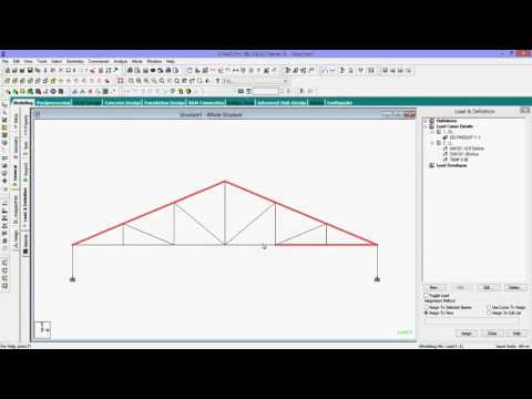 Staad Pro Tutorial for Beginners-How To Analyse Frame Truss With Design