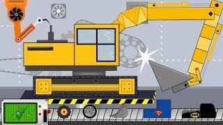 Excavator My Craft | Toy Factory | Excavator, Road Roller, Dump Truck, Garbage Truck | Kids Video