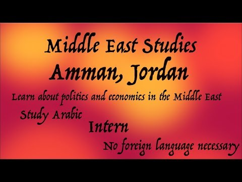 Intern and Study Political Science abroad in Jordan!