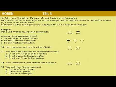 B1 - DTZ - schriftliche Prüfung - DEFEKTE WASCHMASCHINE
