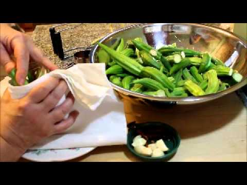 How to make and can the best pickled okra video #57