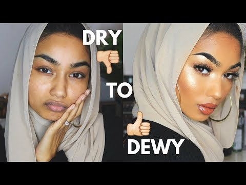 Dry To Dewy makeup tutorial | Sabina Hannan