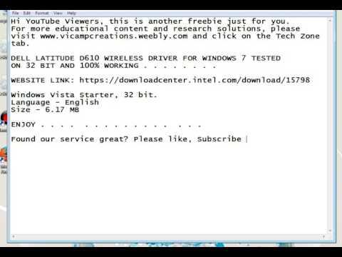 Driver Wireless Notebook Dell Latitude E6410 / Driver Wireless E