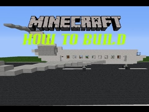 Minecraft How To Build Episode 3, Private Jet [Your very own private plane :D]