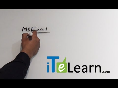 What is MS Excel by Karthik  -  ITeLearn
