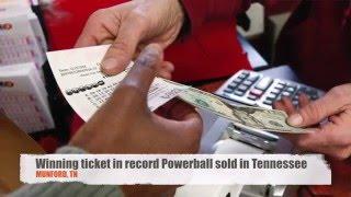 Winning 16 Billion Powerball Ticket Sold In Tennessee