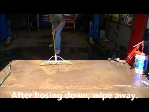 Removed Oil Off of Car Repair Shop Concrete Floor