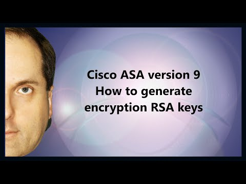 Cisco ASA version 9 How to generate encryption RSA keys