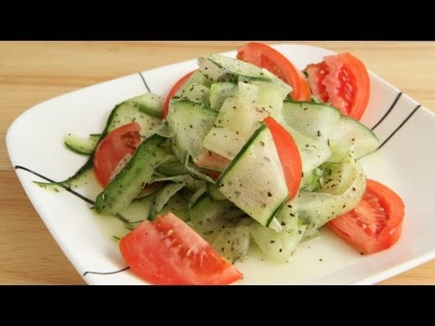 Cucumber Tomato Salad Recipe - Raw Vegan Gluten Free Natural Plant Based Diet