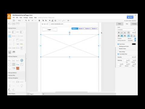 Creating a Website Wireframe in draw.io