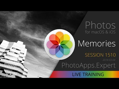 Apple Photos; MEMORIES —PhotoApps.Expert Live Training 1510 SAMPLE
