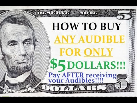 Audible Ultimate Trick: HOW TO BUY ANY AUDIBLE FOR JUST $5 DOLLARS!!!