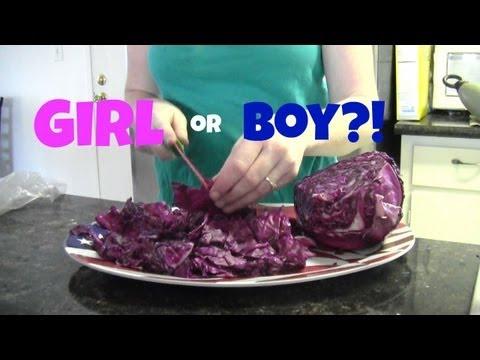 Red Cabbage Gender Test - Boy or Girl?!