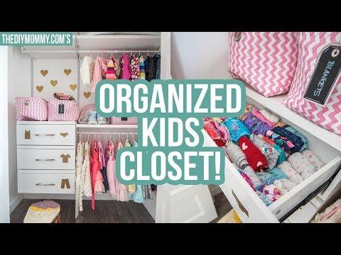 KIDS CLOSET ORGANIZATION IDEAS! | The DIY Mommy