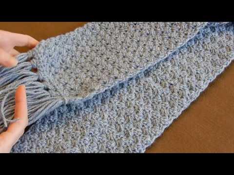 Crochet Scarf Tutorial | Easy Elegant And Simple | Beginner Level
