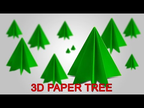3D Origami Christmas Paper Tree Decoration | 3D Tree Decoration | Lina's Craft Club