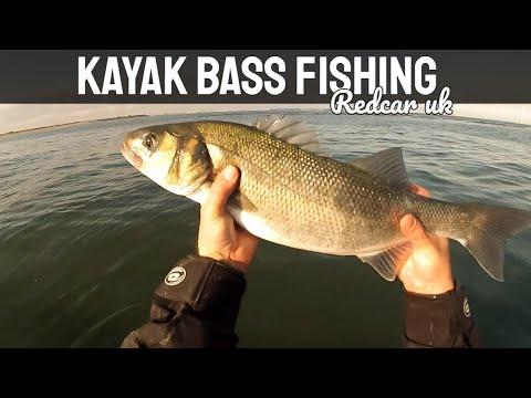Kayak Bass Fishing - Redcar UK - GoPro
