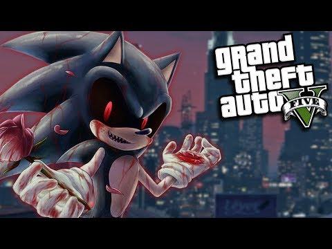 GTA 5 Mods - EVIL SONIC.EXE MOD (GTA 5 PC Mods Gameplay)
