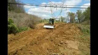 John Deere 450j Dozer Removing Terrace in Field - PakVim net HD