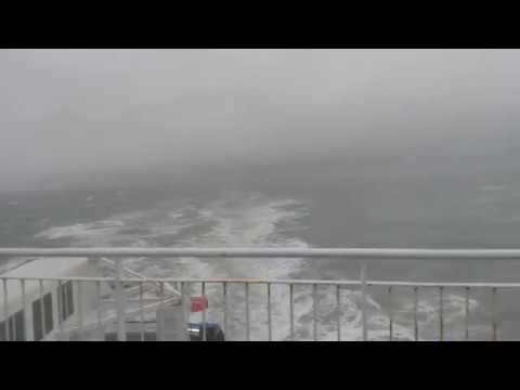 P&O Ferries in Storm Dylan 2017