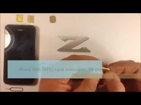 Micro SIM - How to cut Mini SIM easily with scissors