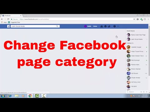 How to change or edit fan page's category on Facebook FB Tips 107