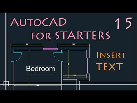 AutoCAD 2D - Insert TEXT