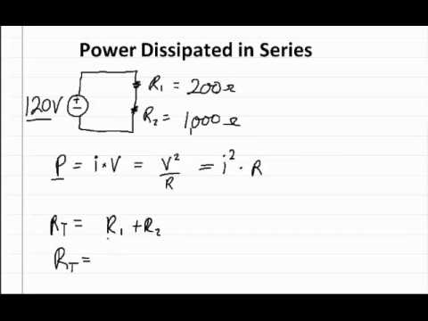 Solving for the Power Dissipated in a Circuit