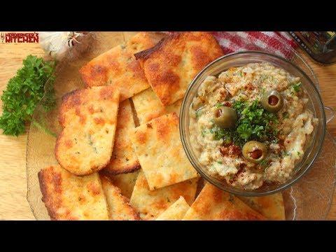 Baba Ganoush & Keto Fathead Crackers (Eggless) | Keto Recipes | Headbanger's Kitchen