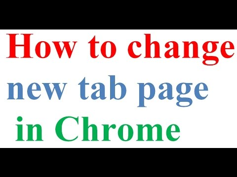 How to change new tab page in chrome