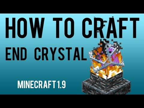 How to Craft End Crystal Minecraft 1.9