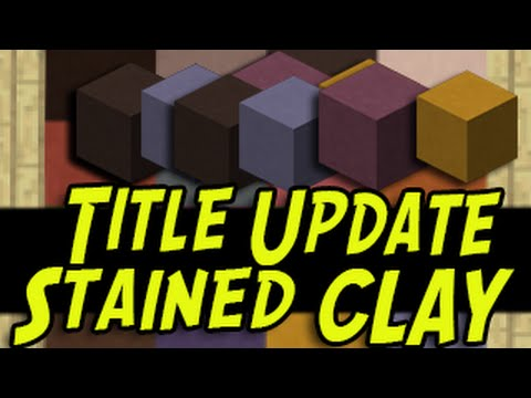 Minecraft (PS3, PS4, Xbox, Wii U) - STAINED CLAY - TUTORIAL - Title Update Item