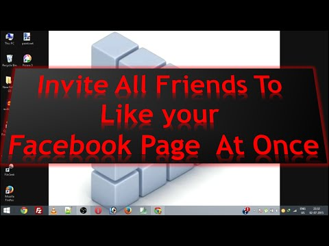 How to invite ALL Friends to LIKE a page on Facebook AT ONCE 2016✔
