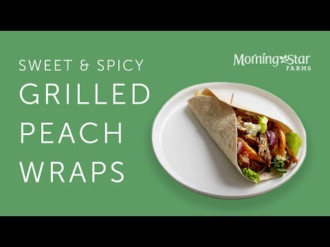 MorningStar Farms® | Sweet & Spicy Grilled Peach Wraps
