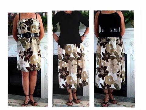 How to sew a skirt or tube dress, easy sewing pattern, sewing tips, sewing for beginners