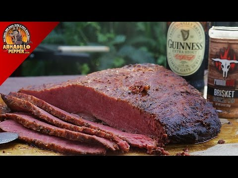 Guinness Beer-Brined Smoked Corned Beef Recipe for St. Patrick's Day | Gourmet Guru Grill