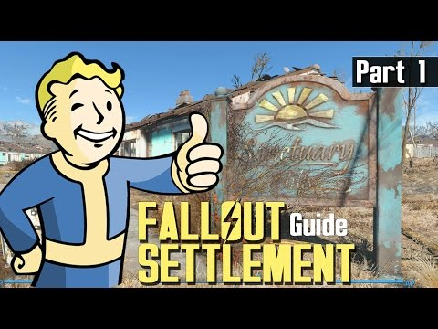 FALLOUT 4 - SETTLEMENT BUILD GUIDE 1 - Workshop Menu Explained, First Thoughts
