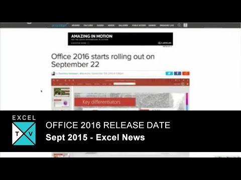 Office 2016 Release Date - Excel News - Week Ending 2015-09-18