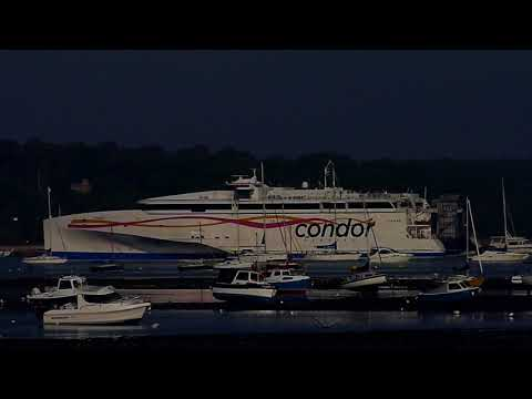 High Speed Condor Ferry departing from Poole Harbour May 2018