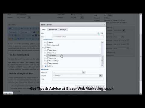 How to Create a Link from One Article to Another With Joomla 1.5 - [Joomla 1.5 Tutorial]