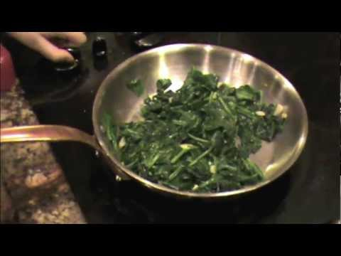Sauteed Spinach and Garlic (The Healthy Way)