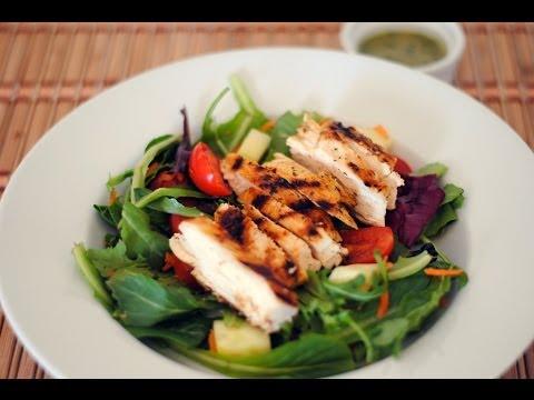 Grilled Chicken Salad With Cilantro Lime Vinaigrette Recipe - Sweet y Salado