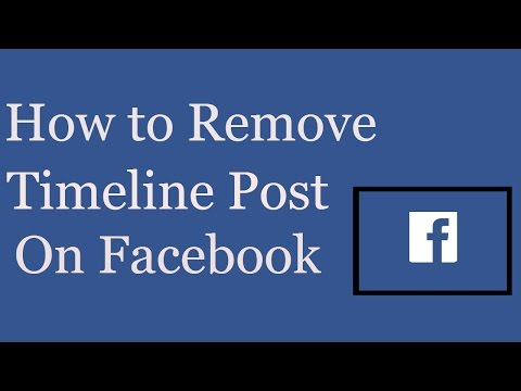 How to Remove Timeline Post On Facebook | How to Delete Facebook Timeline Post