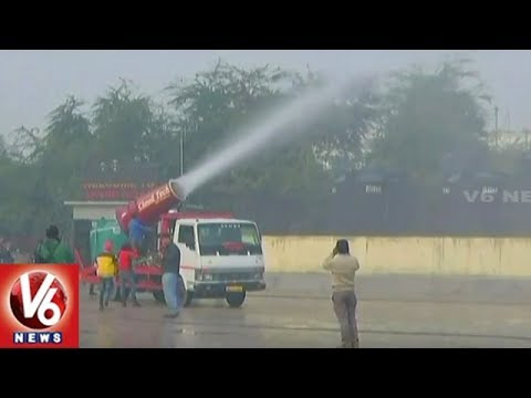 Kejriwal Government Launches Anti-Smog Gun To Control Air Pollution In Delhi   V6 News