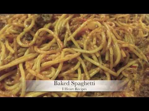 Baked Spaghetti Recipe - I Heart Recipes