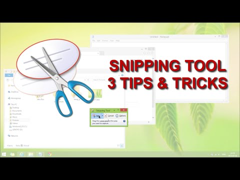 Snipping Tool - 3 Hidden Tips And Tricks For Using Snipping Tool in Windows 8.1